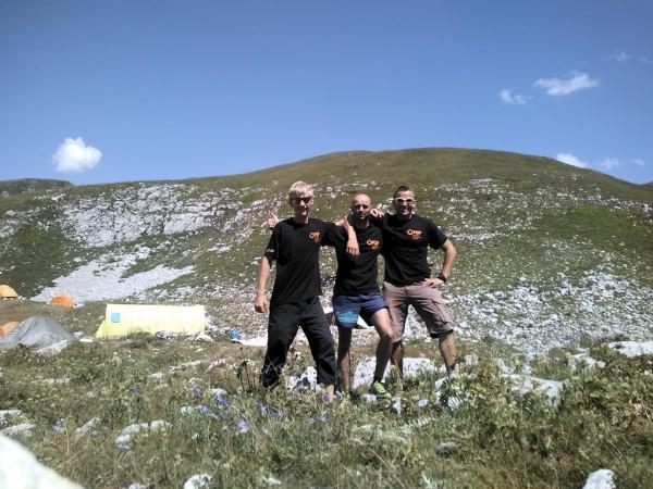 Uczestnicy wyprawy (od lewej Amadeusz Lisiecki, Maciej Janiszewski, Tomasz Krotowski)